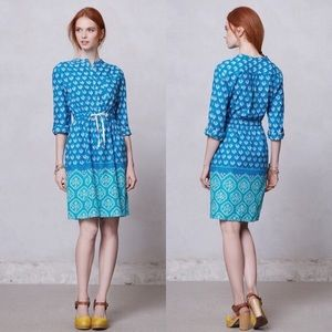 Anthropologie Meadow Rue Anila Blue Shirt Dress